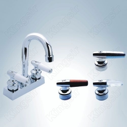 double handle basin tap