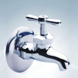 Brass Tap  With Stainless Steel Flange