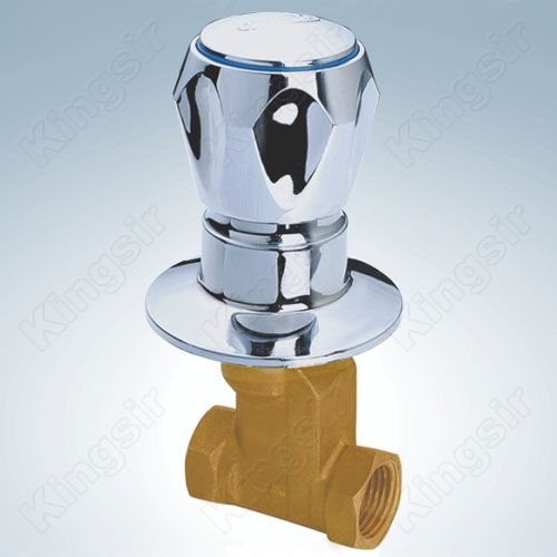 Brass Shower Valve With Zinc Flange And Knob