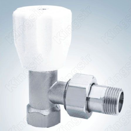 Brass Heating Valve With Pipe Union Nickel Plated