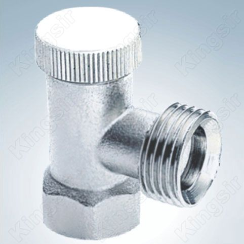 Brass Heating Valve Nickel Plated