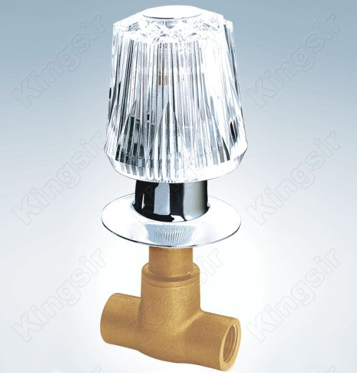 Brass Shower Valve With Zinc Flange And Acryl Knob