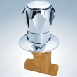Brass Shower Valve With Zinc Flange And Knob Solder Ends