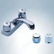 double handle basin tap